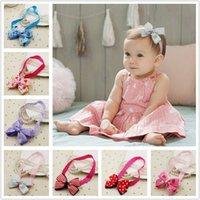 Headbands band strawberry - Baby Kid Strawberry Bow Headbands Girls Bow Knot Hair Band Infant Lovely Headwrap Children Birthday Hair Accessories Colors