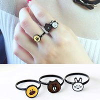 Wholesale Gold plated alloy Animal pattern Japanese and South Korean style lady ring Modeling novel style special