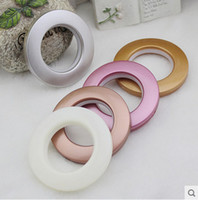 bedroom curtain pole - DHL EMS Round Curtain Grommets Multicolors Nano Rome Circle Durable Compact Curtain Accessories for home decor