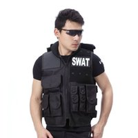 Wholesale Fall Genuine Man s vest bulletproof vest model Molle Black vest cs vest swat protective equipment