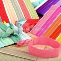 Wholesale 500 Elastic Hair Ties Bands Twist Ponytail Holders