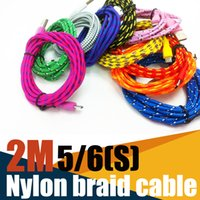 Wholesale Good quality M FT Fabric Braided cable for G Data sync date ChargingCable Nylon Colors cord for G S