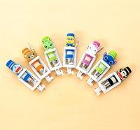 batch stainless steel - Mini cartoon phone fold Selfie rod Portable drive by wire Selfie Monopod Korea cute one folding autodyne artifact Support to mixed batch of