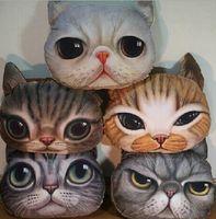 Wholesale Creative Cartoon pillow decorative pillow Cat Cushion Cat Dog Nap Pillow Cushion and Washable Waist Pillow Cute seat cushion HJIA897