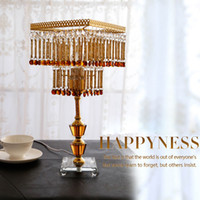 Wholesale Wedding Gift Crystal Table Lamp Living Room Bedside Creative Gold Finished K9 Crystal Lamp Home Decor Fashion Lamp C