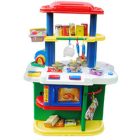 Wholesale Children play toy girl cooking play kitchen toy baby kitchen utensils and tableware suit