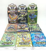 Wholesale Free DHL POKE GO Trading Card Games Cards Set Newest English Edition Anime Monsters Cards board games Card Toys Children Kids cards
