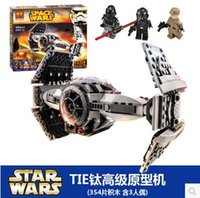 advanced plastics - Star wars minifigures BELA starwars The Force Awakens TIE Advanced Prototype fighter model kits Building Blocks