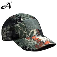 Wholesale Airsoft Paintball army Cap Tactical Camouflage Men s army Python Pattern Hunting Women Summer Fashion Hat Outdoor Sun Hat