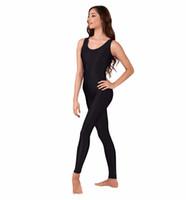 belly dance unitard - Plus Size Womens Lycra Spandex Unitard Tank Top One Piece Dance Ballet Gymnastics Leotard Catsuit Black Unitard Bodysuit