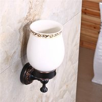 aluminum nickel bronze - And Retail Oil Rubbed Bronze Toilet Brush Holder w Ceramic Cup W Brush Flower Carved Holder Wall Mounted