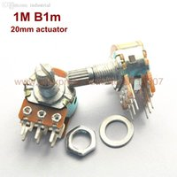 Wholesale Duplex Potentiometer stereo M B1M rotary potentiometer mm actuator length WH148 side adjustment