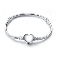 bead strands - New Arrival Charm Bangle Sterling Silver Bracelet Fit European Charms Beads CM Length Fashion DIY Jewelry