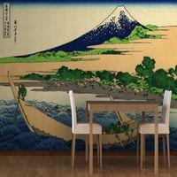 bay fabric - Mural Shore Tago Bay by Hokusai Wallpaper Murals Mural wallpaper for walls background Large living room bedroom wallpaper murals