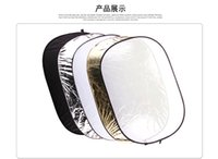Wholesale 24 inch cm in Gold Silver White Black and Translucent Portable Photography Studio Multi Photo Disc Collapsible Light Reflector Sol