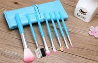 Wholesale NEW Professional Makeup Brush Set Pro Cosmetic pc Make Up Cosmetic Brush Set Kit Leather Case Factory Direct