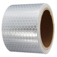 Wholesale 5x300cm Car Decoration Motorcycle Reflective Tape Stickers Car Styling For Automobiles Safe Material Safety Warning Tape order lt no track