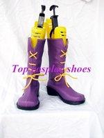 amu hinamori cosplay - Freeshipping anime Shugo Chara Hinamori Amu purple Cosplay Shoes boots GAI0223