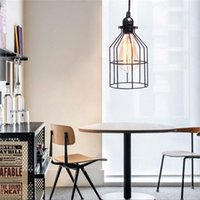 Wholesale The new Art Deco style wire paint line Antique chandelier lamp chandelier A V E27 straight wire lampshade
