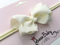 baby shower clips - Baby Bow Headband Mini Felt Bow Hair Clips Headband Baby Shower Gift Elastic Cotton Toddlers Sailor Bow Hair Band QueenBaby