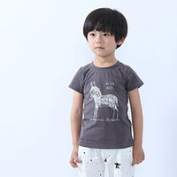 Wholesale 2016 horse cartoon children s T Shirt boys girls T Shirt Y cotton Summer T Shirt Short sleeved Cotta MOQ KT002