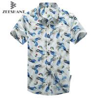 hawaiian shirts - Men s Tropical Hawaiian Shirts Full Floral Short Sleeve Casual Loose Large size Beach Party Shirts Tops For Fastest Shipping