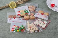 baking christmas gifts - 100PCS Santa Claus Christmas Gifts Bags Self adhesive Bake Cookies Biscuit Plastic Packaging Bags Kids Gifts For Decor Candy