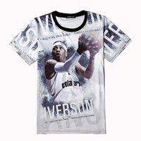 allen iverson team - Allen Iverson Jersey T Shirt Men d Throwback Team usa Basketball Jerseys Kyrie Irving Curry Tees Tops Lebron Westbrook James