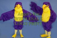 Wholesale purple falcon mascot costume high quality adult size sport eagle hawk bird theme anime cosply costumes carnival fancy dress kits SW2830