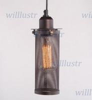 cheap vintage metal seive filament pendant lamp industrial lighting edison bulb dining room living room bar cheap industrial lighting