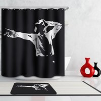 bathroom steamer - Hot Michael Jackson Swing Sofa Steamer Autumn Scenery Shower Curtains Spring Polyester Waterproof Thick Bathroom Curtains