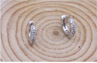 asian modeling - Fashion modeling Sterling Silver Earrings No stimulation For Women Rhinestone Crystal Double Row Wedding Jewelry Factory price sales