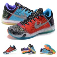 al por mayor x zapatos bajos de baloncesto-(Con la caja de los ZAPATOS) Bryant Kobe 10 X SE bajo qué el WTK Multi-color plata 3M hombres calientes de la venta baloncesto embroma los zapatos de los cabritos