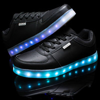 amazing cool - Super Amazing Cool High quality Led Shoes Men Women Fashion Light Up Casual Shoes Adults Colors Glowing Outdoor led light shoe