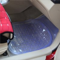 Wholesale Factory direct group of thick PVC transparent car mat basin type anti skid plastic foot with foot car