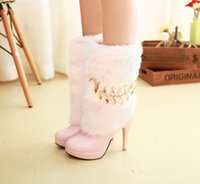 Wholesale 2016 snow boots fur boots pink bridesmaid shoes wedding shoes to wear Martin boots shoe size
