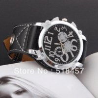 accurate rubber watch - car New Accurate Black Band Fashion Casual Men Watch Leather Wristwatch For Outside Function