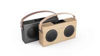 bank wooden - AVWOO factory POP model Wooden Bluetooth Speaker with FM Radio USB Charging Line in display power bank