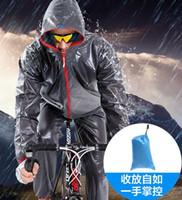Wholesale Men and women outdoor sports mountain bike riding raincoat rain pants suit split poncho ride sunscreen