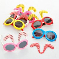 Wholesale New Fashion Rabbit Ear Removabl KidsToy Promotional Sunglasses Goggles Sun Glasses UV400 For Baby Children Accessories