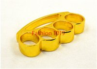 Wholesale Knuckle duster belt buckle F S THICK CHROMED KIRSITE BRASS KNUCKLES DUSTERS Boxing Protective Gear Via DHL