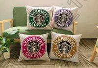 Wholesale 200PCS LJJM32 Home Fashion Sofa Decor Cotton Linen Pillow Cases Starbucks Floral Cushion Covers Modern Simple Pillow Cases