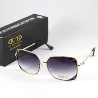 al por mayor gafas con montura cuadrados-Desingner Hombre Mujer Gafas de sol Gafas Gafas de oro Marco de oro Gafas de sol Goggle Motorcycl Shadow Point Lente Gris UV400 Antireflect Square