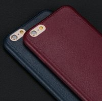 affordable cases - High Quality Super Thin Leather Pattern Texture Phone Cases for iPhone S Luxury Soft TPU Comfort Back Cover Affordable