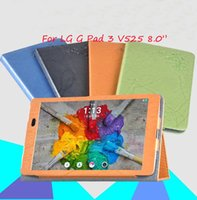 Wholesale Luxury Folio Stand Print Pattern PU Flower Leather Case Cover For LG G pad V525 inch Tablet