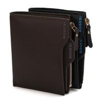 acrylic photo panels - 2016 luxury wallet Bogesi Man Wallet Short Purse Bifold Mens Solid Leather Wallets Multi Slot Pocket Credit Card Photo Holder Zipper Pouch