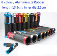 aluminum motorcycle grips - Motorcycle Grips Aluminum Rubber cm inner dia cm Handle Bar Hand Grips BLACK RED MOTOR Grips Purple RED BLUE SILVER Monster RSZ