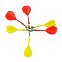 Wholesale 10pcs Magnetic Flat Tips Dart Darts for Two Sided Magnetic Dart Board Red Yellow