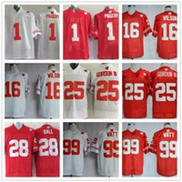 badger football jerseys - Wisconsin Badgers Jersey Football Ncaa College Russell Wilson J J WATT Melvin Gordon III PIGGERY Montee BALL White Red