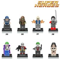 Wholesale 8pcs Superheroes Minifigure Suicide Squad Harley Quinn Joker Enchantress Killer Croc Deadshot Building Blocks Kids Toys legoeds